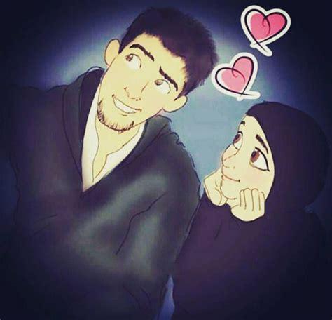hijab animasi images  pinterest anime muslim muslim couples  islamic