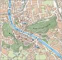 Large tourist map of Salzburg city center   Salzburg ...