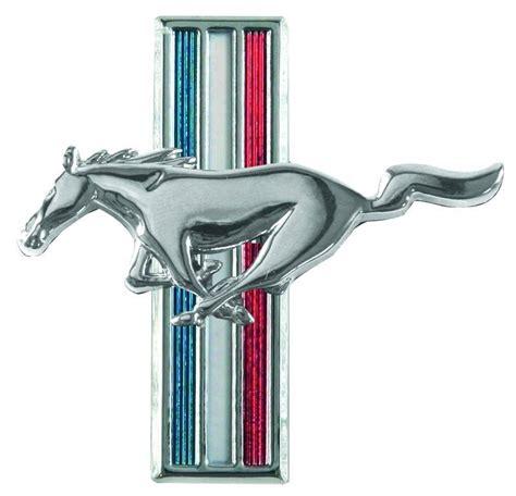 mustang running horse fender emblem pair