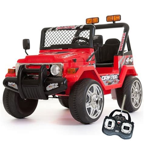 kids red jeep 12v red two seater off road kids electric jeep 169 99