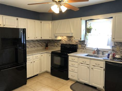cabinets painted white   countertops monks  nj