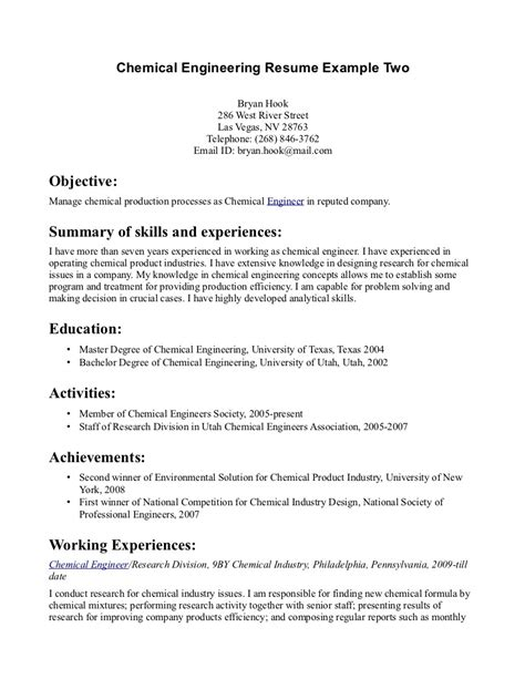 engineering internship resume template sle resume