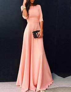 2017 coral long satin modest bridesmaid dresses with half With gala wedding dress