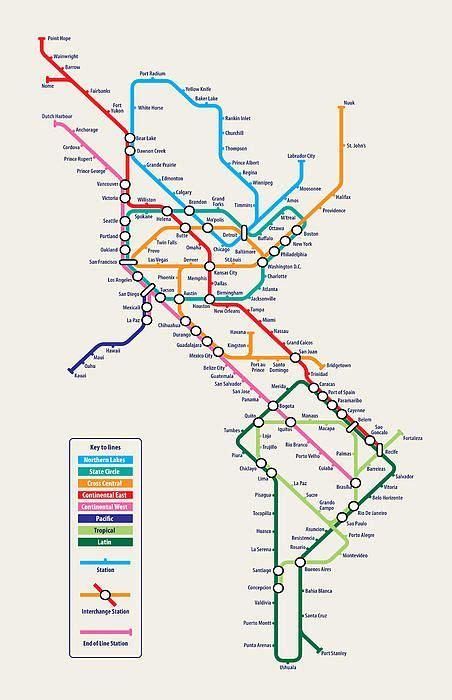 latin america metro map maps