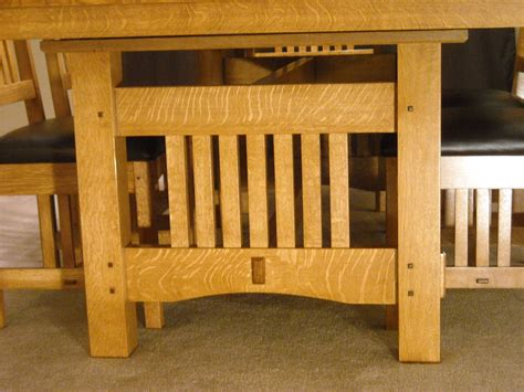 craftsman kitchen table and chairs craftsman dining table plans pdf woodworking