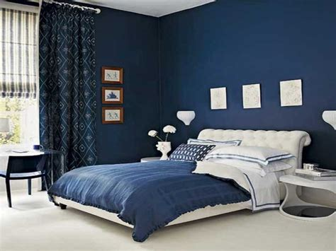 royal blue painted bed room navy blue bedroom