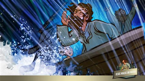 Jesus Walks On Water Story Kids