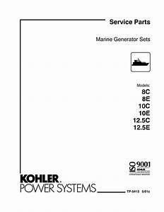 Kohler 10 E Generator Parts Manual