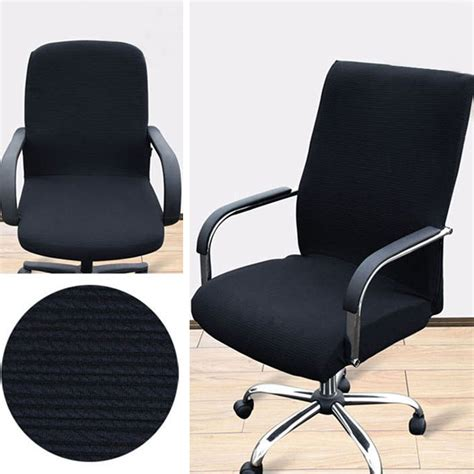 swivel chair slipcover chair cover comfortable stretchy office armchair seat