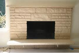 Remodelaholic Restoring A Painted Stone Fireplace The Barn Doors Would Be Perfect To Provide Privacy To Make The Room How To Easily Paint A Stone Fireplace Charcoal Grey Fireplace Stacked Stone Fireplace Home Design Ideas Pictures Remodel And Decor