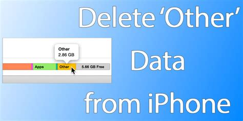 delete data from iphone how to delete other data from iphone or