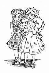 Coloring Pages Lollipop Candy Cotton Drawings Deviantart Jadedragonne Sweet Soury Blank Lollipops Sour Twins Dragon Line sketch template