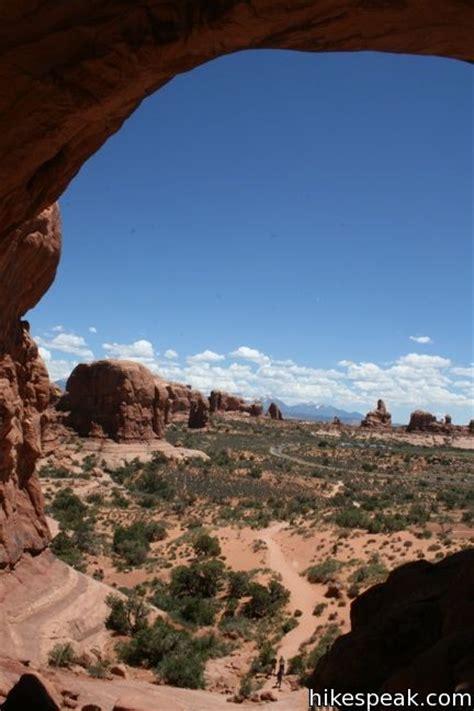 double arch trail arches national park hikespeakcom