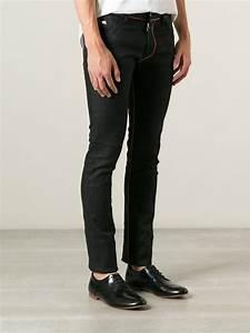 Jeans Pocket Design Lyst Emporio Armani Skinny Jeans In Black For Men