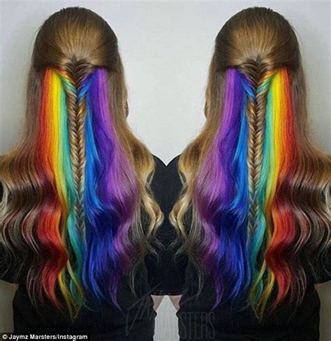 Show Different Hair Colors by Show Their Secret Rainbow Hair Colour