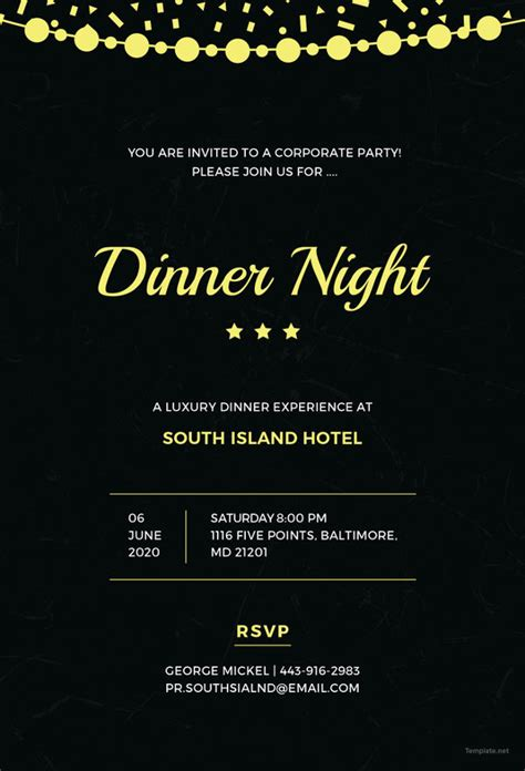 dinner invitation templates psd ai  premium