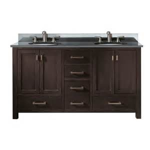 shop avanity modero espresso undermount double sink
