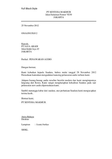 Contoh Surat Perintah Kerja Resmi by Pengertian Format Dan Jenis Jenis Surat Dalam Pelajaran