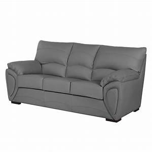 Sofa 3 Sitzer Mit Schlaffunktion : sofa luzzi 3 sitzer kunstleder mit schlaffunktion grau fredriks online kaufen bei woonio ~ Indierocktalk.com Haus und Dekorationen