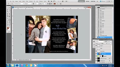 design wedding invitations  photoshop youtube