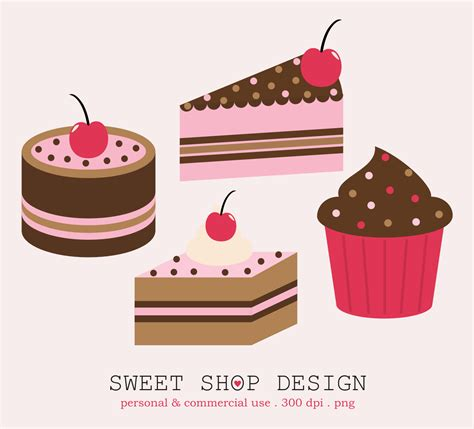 cake clipart sweet shop design cakes clip freebies