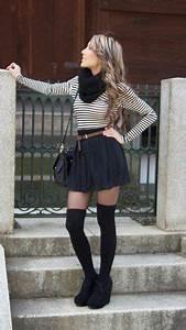 40 stylish fall ideas with the knee socks