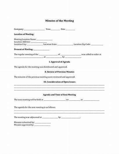 Minutes Corporate Form Template Fillable Doc