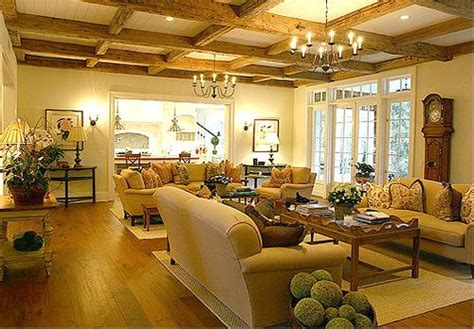 Large Living Room With 2 Seating Areas by Fabulously Warm And Cozy Country Great Room I