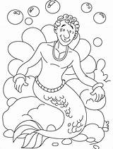 Merman Coloring Pages Clipart Line Library Clip Printable Print Getcolorings Popular sketch template