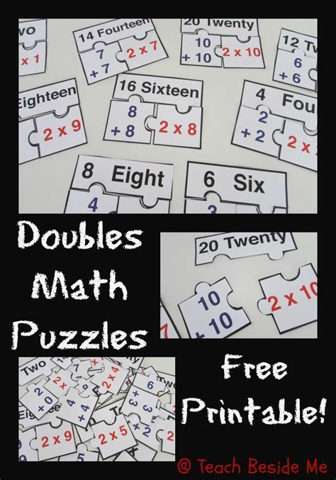 FREE Doubles Math Puzzles Printable!   Blessed Beyond A Doubt
