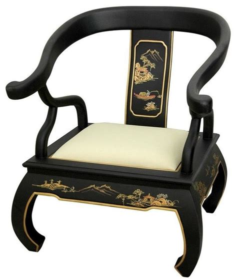 black landscape ming chair asian armchairs and accent