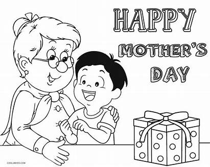 Happy Coloring Grandma Pages Mothers Printable Birthday