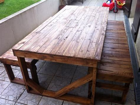 salon de jardin en palette avec la table 224 manger de montage do it yourself do it