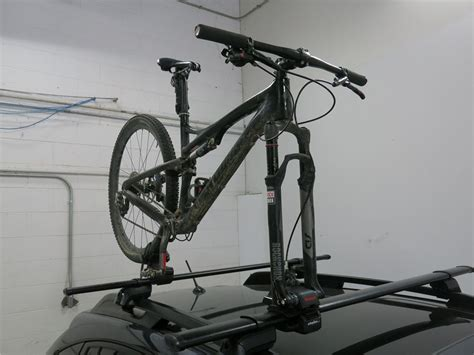 bike rack yakima yakima forkchop roof bike rack fork mount cl on