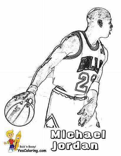 Coloring Jordan Pages Michael Basketball Shoes Bulls