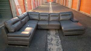 letgo gray faux leather sectional so in queen creek az With grey faux leather sectional sofa