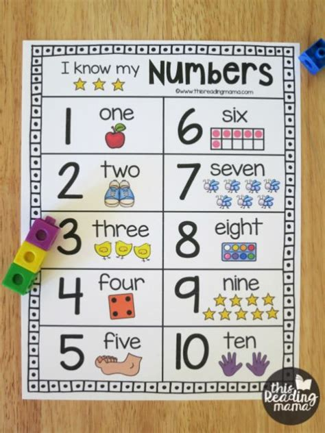 printable number chart  numbers   stampabile