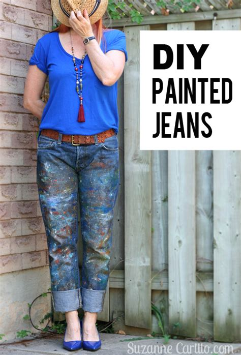 easy diy paint splatter jeans suzanne carillo