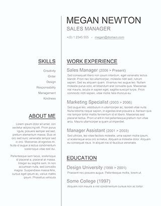 Professional Resume Sles In Word Format by 150 Free Resume Templates For Word Downloadable Freesumes