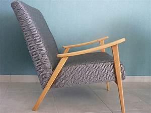 Canapé Et Fauteuil Scandinave : fauteuil scandinave vintage restaur ~ Teatrodelosmanantiales.com Idées de Décoration