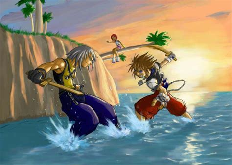 Image Kh Kingdom Hearts Fan Art Sunset Beach Final By