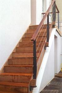 rambarde balustrade rampe d'escalier et garde corps en bois et métal