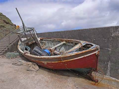Find A Fishing Boat In Ireland by Abandoned Fishing Boat Belderg Harbour C Oliver Dixon