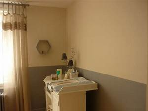 Chambre Grise Et Beige : chambre de bb mise en peinture en deux tons gris et beige en deux couches blog de decorenov ~ Melissatoandfro.com Idées de Décoration