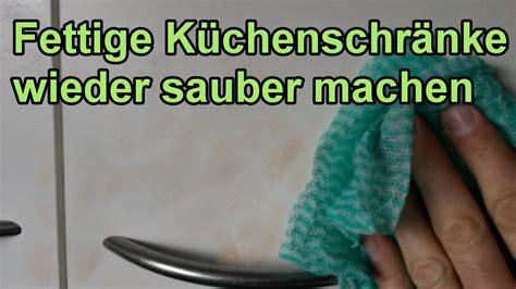 Fett Von Küchenschränken Entfernen