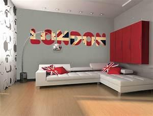 inspiration decoration chambre gris et rouge With deco maison rouge et gris