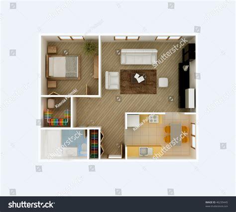 floor plan top view apartment stock illustration