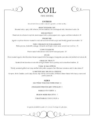 Fine Dining Food Menu | Design Templates by MustHaveMenus