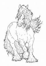 Gypsy Coloring Pages Lineart Horse Vanner Drawing Adult Deviantart Requay Drawings Head Friesian Horses Colouring Books Adults Sketches Collections Arabian sketch template