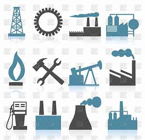 Set of theme industry icons Royalty Free Vector Clip Art ...